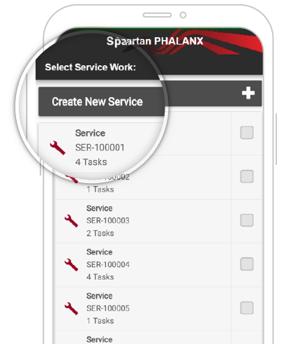 create new service in app screen