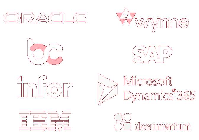 Synchronise operations with enterprise applications logos